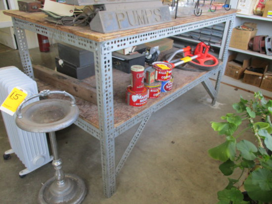 SHOP TABLE 33'' X 63'' WITH LOWER SHELF