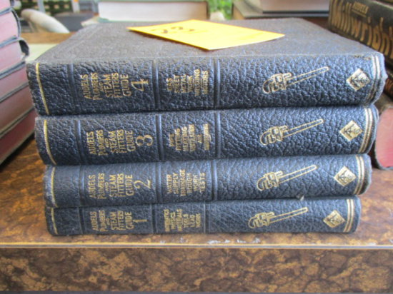 LOT OF 4 AUDELS STEAM FITTERS GUIDES