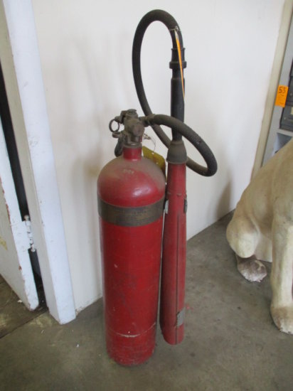 C O 2 EQUIPMENT CO FIRE EXTINGUISHER APPROX 15#