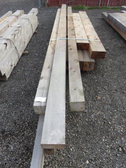 VARIOUS SIZED LUMBER, RANDOM LENGTHS MOSTLY 8'-10', (4) 8'' X 8'', (2) 6'' X 10'', (2) 6'' X 6''