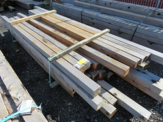 (42) 4'' X 4'' CEDAR, VARIOUS LENGTHS 8' - 12 '