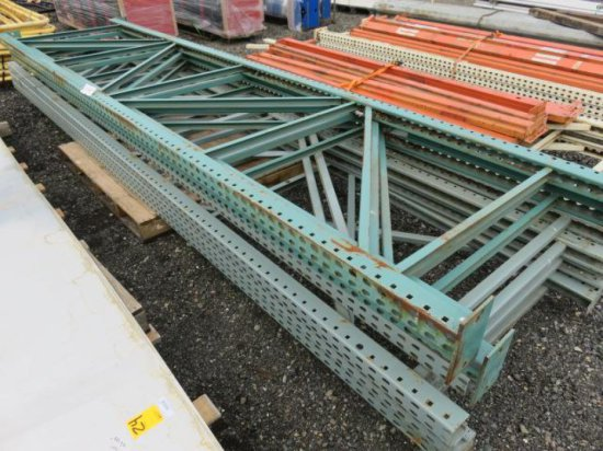 PALLET OF PALLET RACKING, UPRIGHTS ONLY