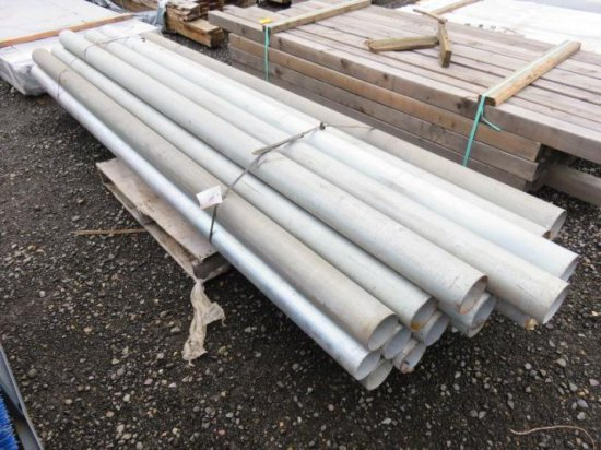 PALLET W/(25) 10' X 4 1/2'' STEEL PIPES