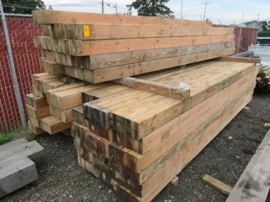 (APPROX. 450) 2'' X 6'' X 12'9'' BOARDS (NAILED TOGETHER IN 8 BOARD SECTIONS)