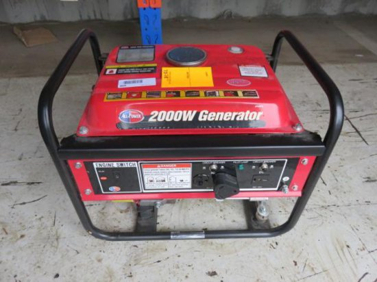 ALL POWER APG3014 2000W GAS PULL START GENERATOR
