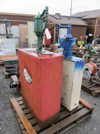 (2) VINTAGE OIL TANKS