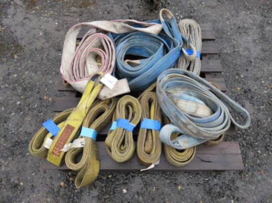PALLET OF WEB SLING LIFTING STRAPS