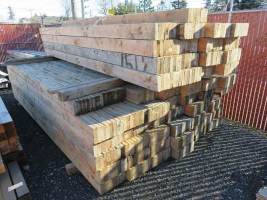 APPROXIMATELY 450 2'' X 6'' X 12'9'' BOARDS, NAILED TOGETHER IN 8 SECTIONS