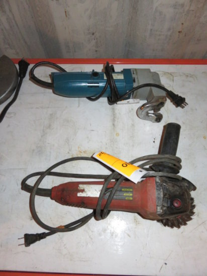 LOT W/HILTI 4'' GRINDER & CHICAGO SHEAR 120 VOLT