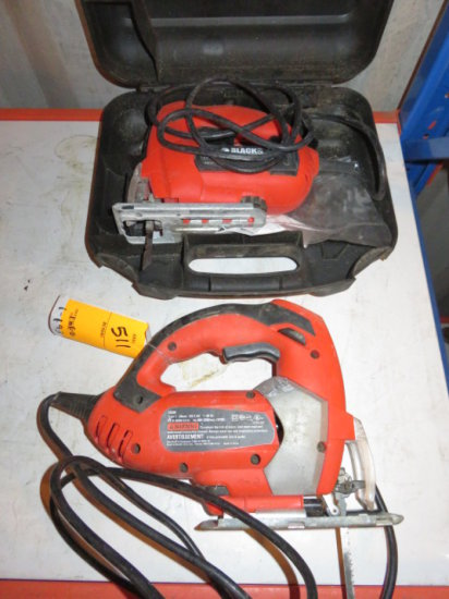 (2) BLACK & DECKER JIG SAWS W/CASE