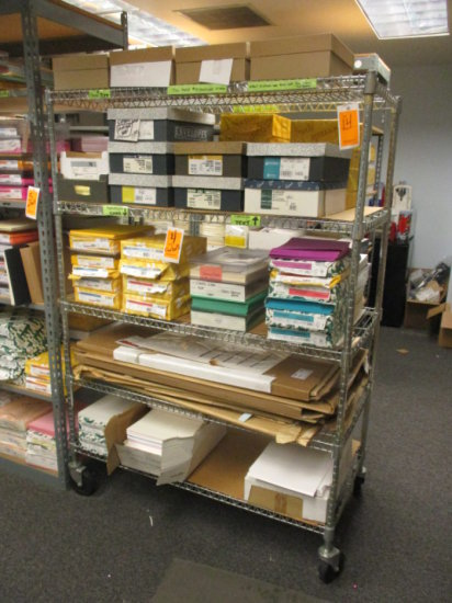 METRO WIRE RACK CART 5 SHELVE 4'W X 5.5' H
