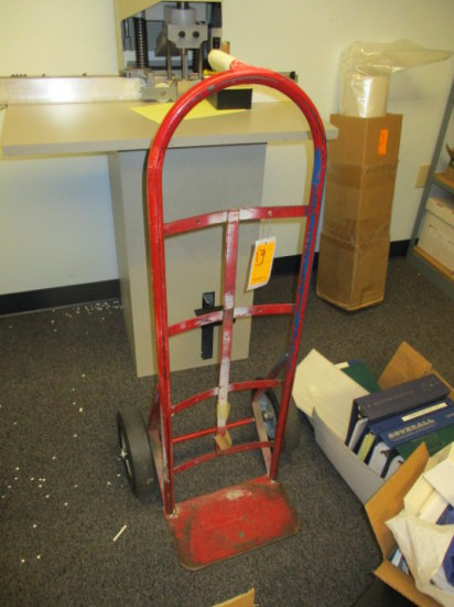 HAND TRUCK RED SOLID RUBBER TIRES