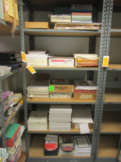 CONTENTS OF 5 SHELVES MOSTLY PAPER PRODUCT