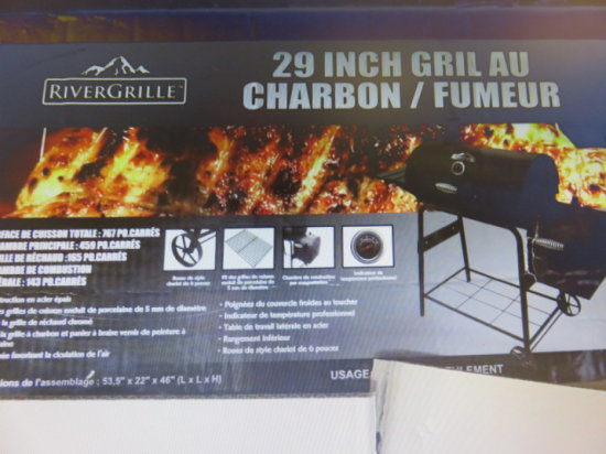 RIVERGRILLE 29'' GRILL/SMOKER PARTS MISSING