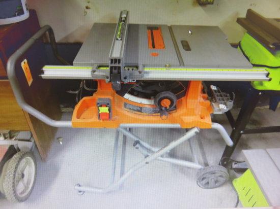 RIDGID R4513 10'' PORTABLE TABLE SAW 15 AMP