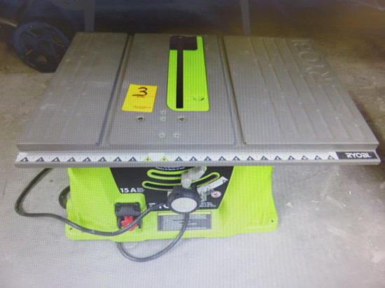 RYOBI 10'' TABLE SAW 15 AMP INCOMPLETE STAND