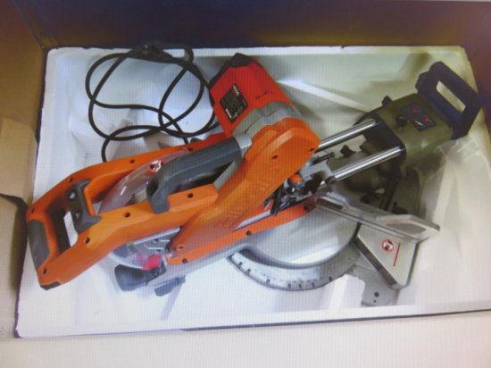 RIDGID 10'' SLIDING COMPOUND MITER SAW WITH DUAL LASER GUIDE