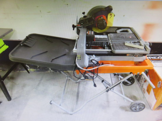 RIDGID R4092 10'' 15AMP WET TILE SAW WITH STAND