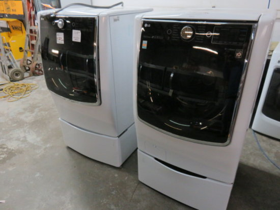 LG FRONT LOAD WASHER MDL WM9000HWA AND LG FRONT LOAD DRIER MDL DLEX9000W C/