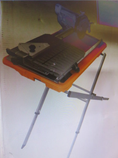 RIDGID R4030S WET TILE SAW WITH STAND 7''