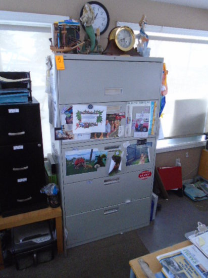 HON FIVE DRAWER LATERAL FILE CABINET