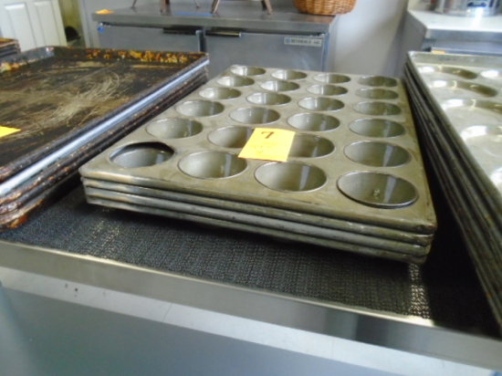 LOT OF 4 MUFFIN PANS 24 EACH