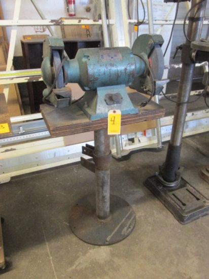 JET DUAL BENCH GRINDER ON PEDESTAL MODEL BG-10 2 HP 115 VOLT