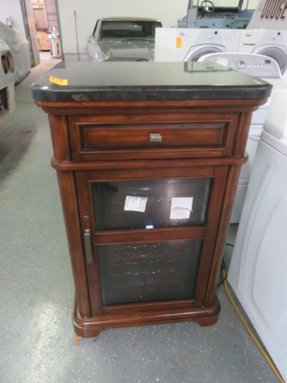 SONORA WINE COOLER IN WOODEN CASE WITH MARBLE TOP MDL 1075067
