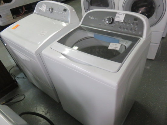 WHIRLPOOL CABRIO WASHER MDL WTW5810BW AND WHIRLPOOL DRYER MDL 566312