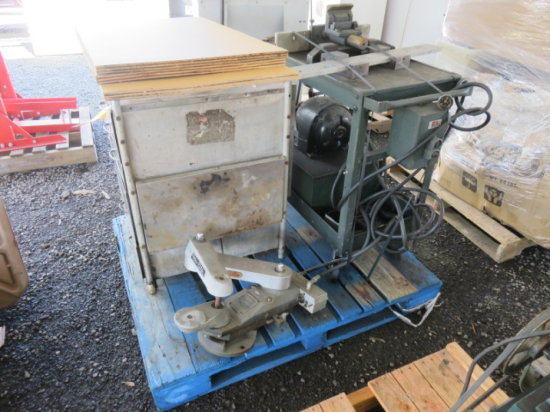 FIVE DRAWER STAINLESS STEEL CART, HYDRAULIC POWER UNIT, COPY RITE TRACING M