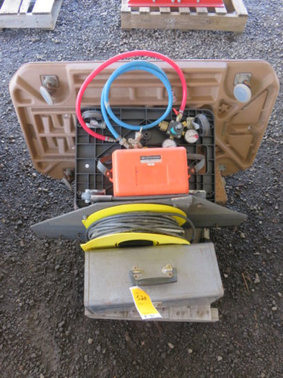 PALLET W/TOOL BOXES (SOME W/TOOLS), CAR CREEPERS, & EXTENSION CORD