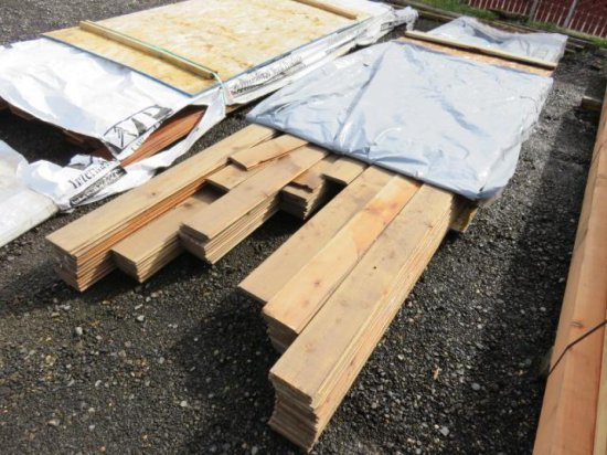 LOT W/APPROX 75 TONGUE & GROOVE 1'' X 5'' BOARDS