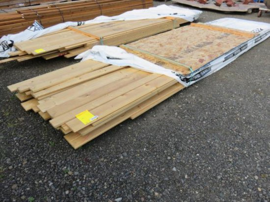 LOT OF ASSORTED SIZE & LENGTH PINE BOARDS
