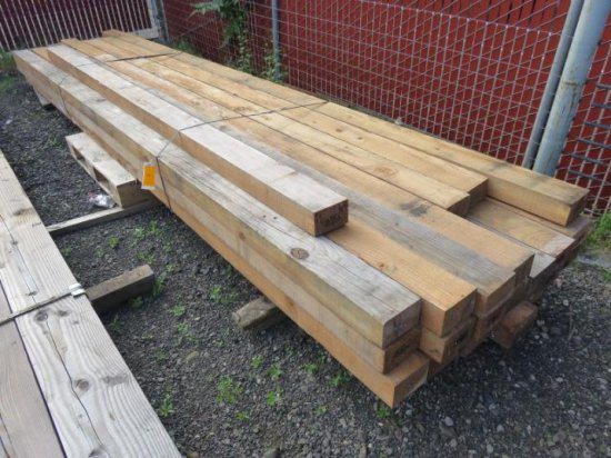 ASSORTED 4''X 6'' LUMBER (SOME DAMAGED PIECES)