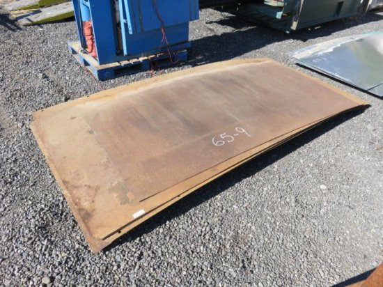 (8) PIECES OF ASSORTED SIZED FLAT STEEL