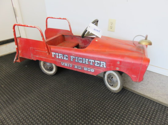 ANTIQUE PEDAL CAR, ''FIRE FIGHTER UNIT NO. 608''