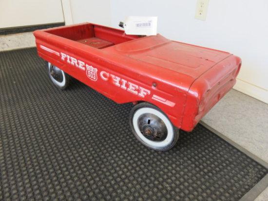 ANTIQUE PEDAL CAR, ''FIRE CHIEF''
