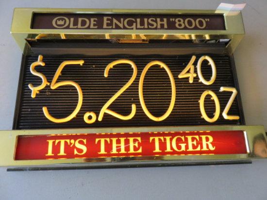OLD ENGLISH 800 NEON LIGHT