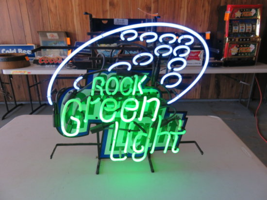 ROCK GREEN LIGHT BEEN NEON SIGN