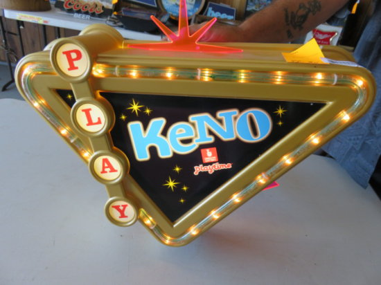 KENO PLAY LIGHTED SIGN