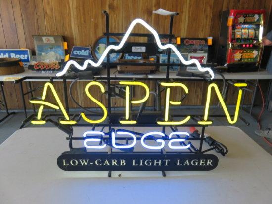 ASPEN EDGE LIGHT LAGER NEON SIGN