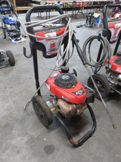 SIMPSON 3000 PSI GAS PRESSURE WASHER 2.4 GPM, HONDA GCV 190 POWER (POOR CON