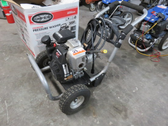 POWERSTROKE GAS PRESSURE WASHER 2600 PSI 2.3 GPM, HONDA GAS POWER