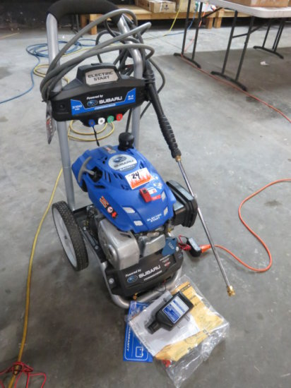 POWERSTROKE GAS PRESSURE WASHER 3100 PSI 2.4 GPM, SUBARU ELECTRIC START GAS