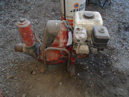 (UNKNOWN MAKE) GAS POWERED TRASH PUMP W/HONDA GAS ENGINE - RUNNING CONDITION