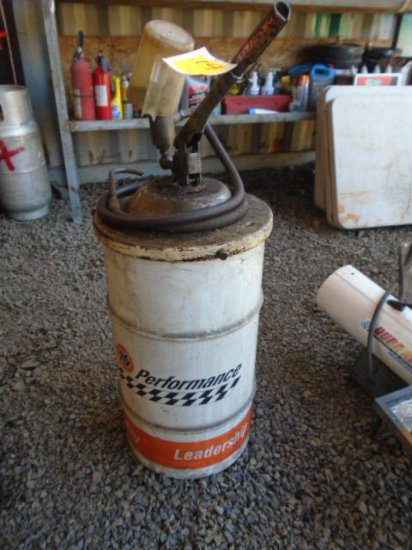 MANUAL LUBE BARREL W/REMAINING LUBE