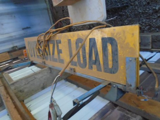 OVERSIZE LOAD SIGN AND BANNER