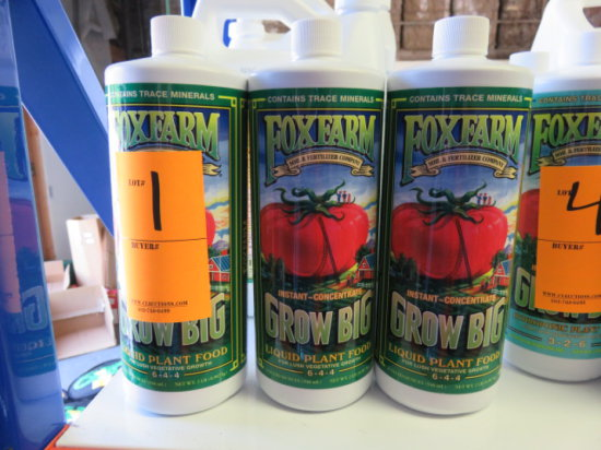 (3) 32 OZ FOXFARM GROW BIG LIQUID PLANT FOOD