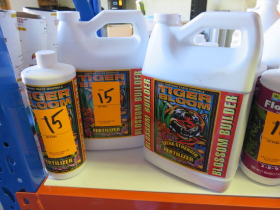 (1) 32 OZ & (2) GALLONS TIGER BLOOM EXTRA STRENGTH FERTILIZER