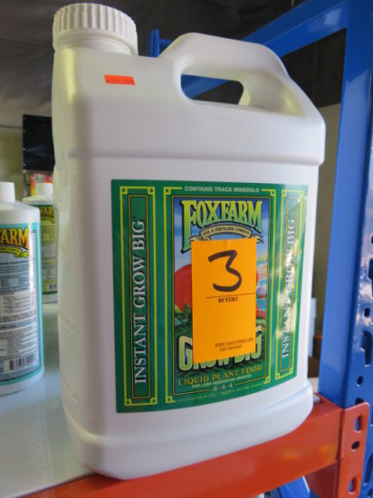 2.5 GALLONS FOXFARM GROW BIG LIQUID PLANT FOOD